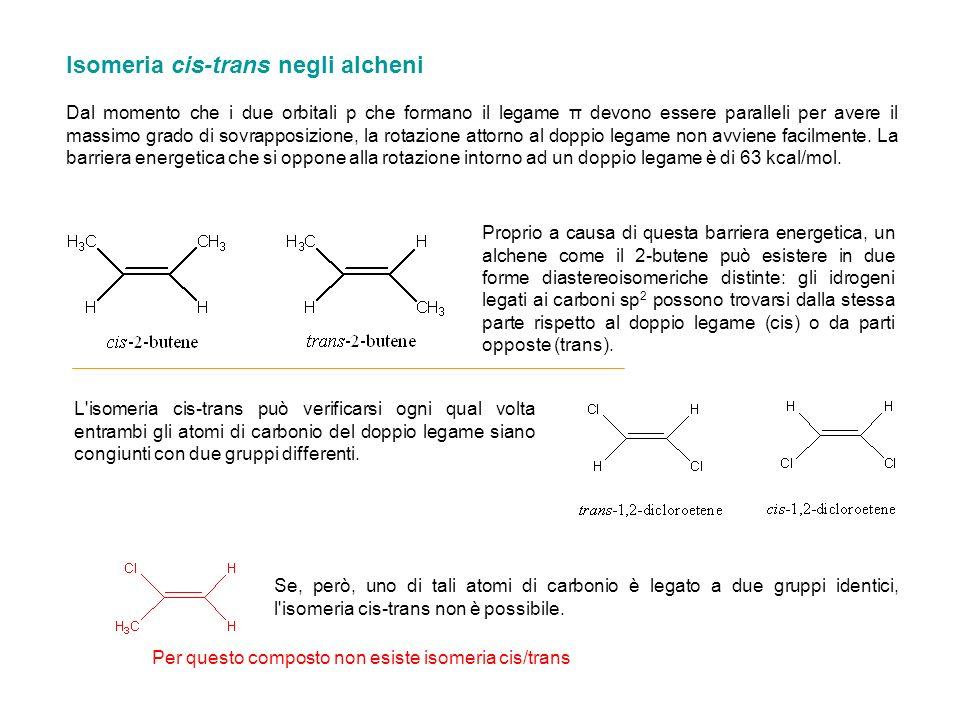 Isomeria cis-trans negli alcheni