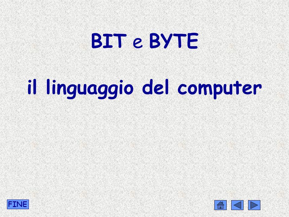 BIT e BYTE il linguaggio del computer