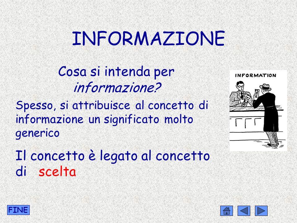 Cosa si intenda per informazione