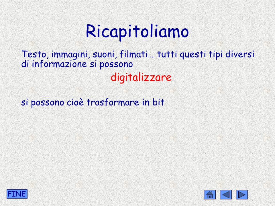 Ricapitoliamo digitalizzare