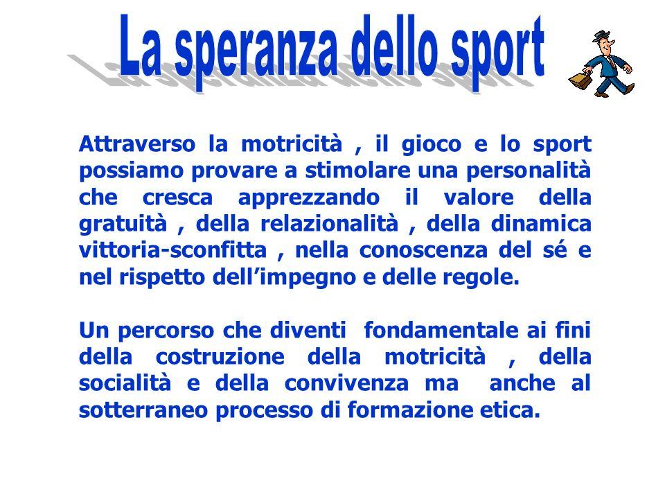 La speranza dello sport