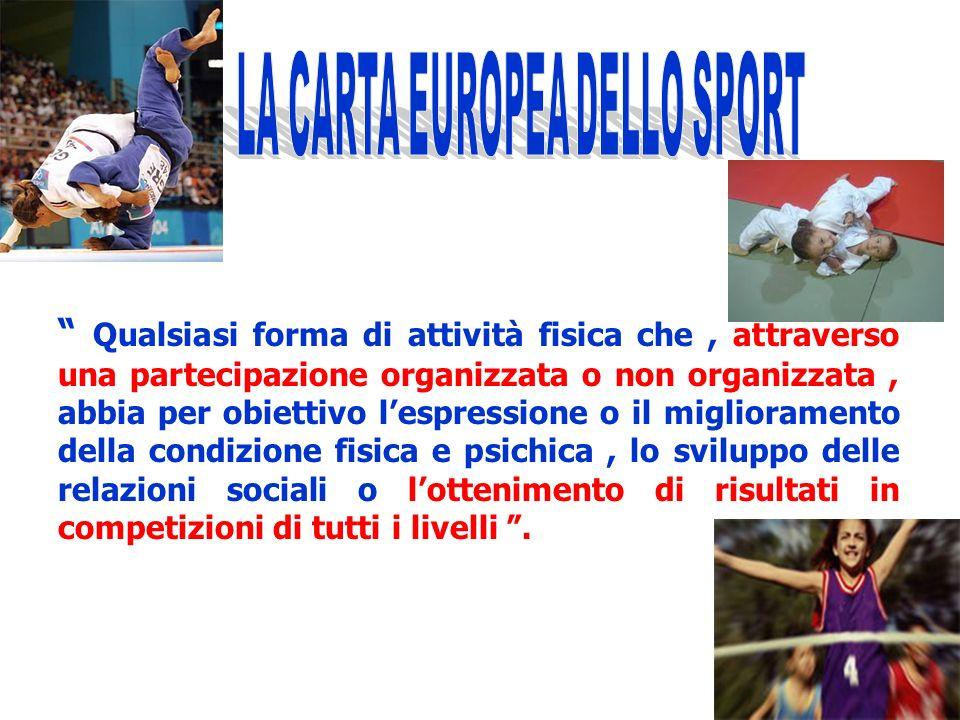 LA CARTA EUROPEA DELLO SPORT