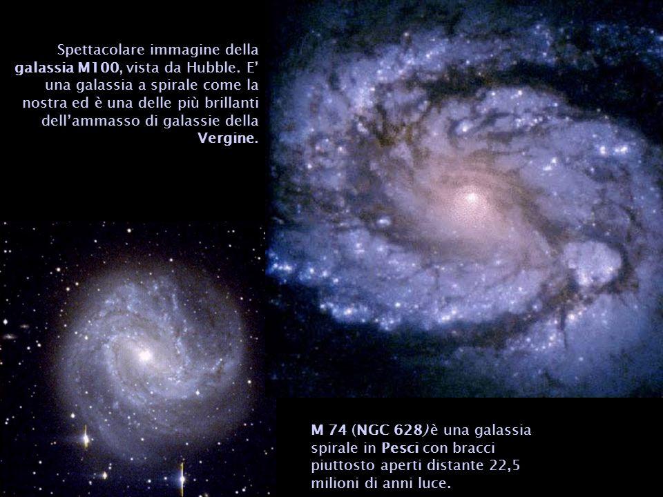 Spettacolare immagine della galassia M100, vista da Hubble
