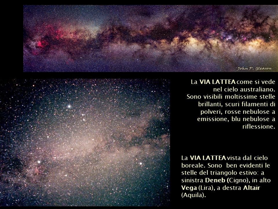 La VIA LATTEA come si vede nel cielo australiano.