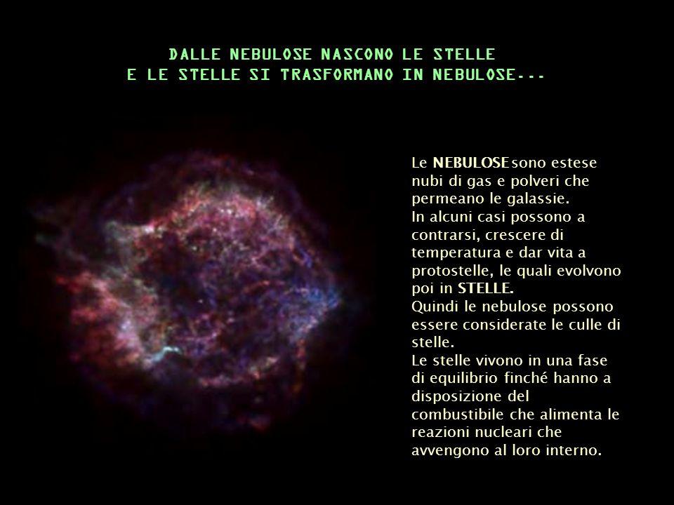 DALLE NEBULOSE NASCONO LE STELLE
