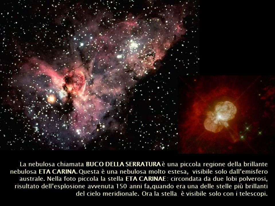 La nebulosa chiamata BUCO DELLA SERRATURA è una piccola regione della brillante nebulosa ETA CARINA.