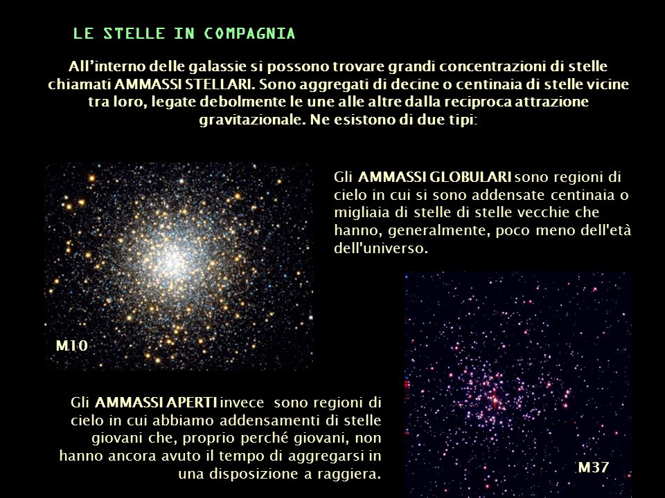 LE STELLE IN COMPAGNIA