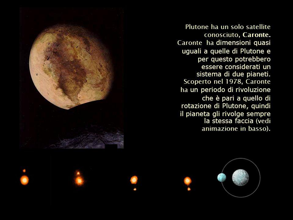 Plutone ha un solo satellite conosciuto, Caronte.