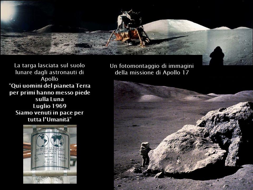 Un fotomontaggio di immagini della missione di Apollo 17
