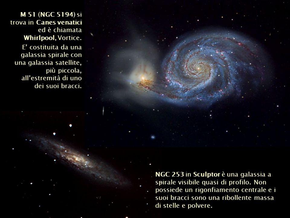M 51 (NGC 5194) si trova in Canes venatici ed è chiamata Whirlpool, Vortice.