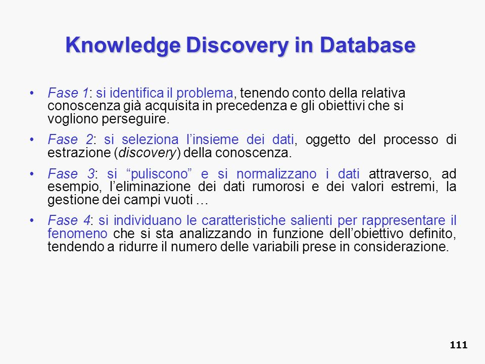 Knowledge Discovery in Database