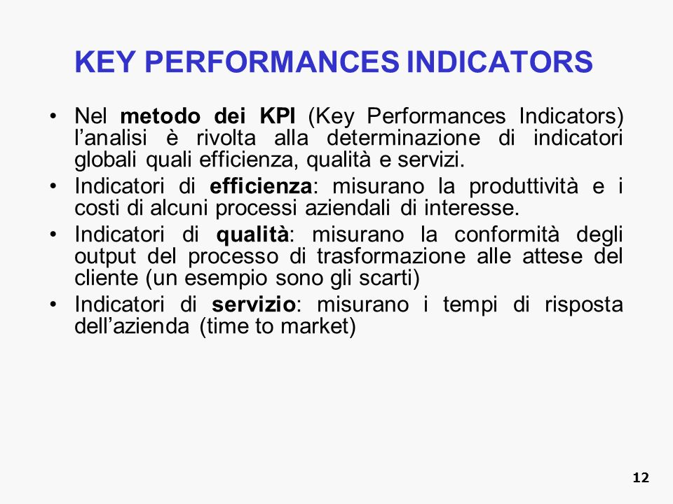 KEY PERFORMANCES INDICATORS