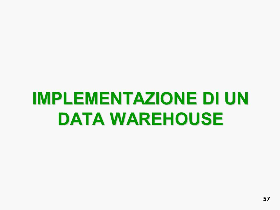 IMPLEMENTAZIONE DI UN DATA WAREHOUSE