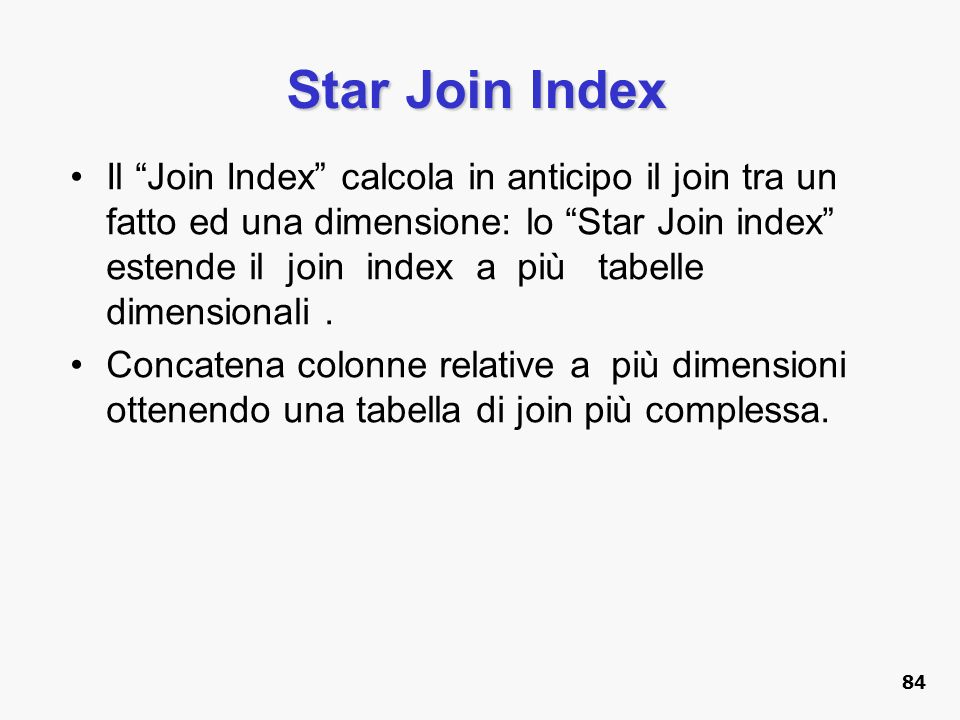 Star Join Index