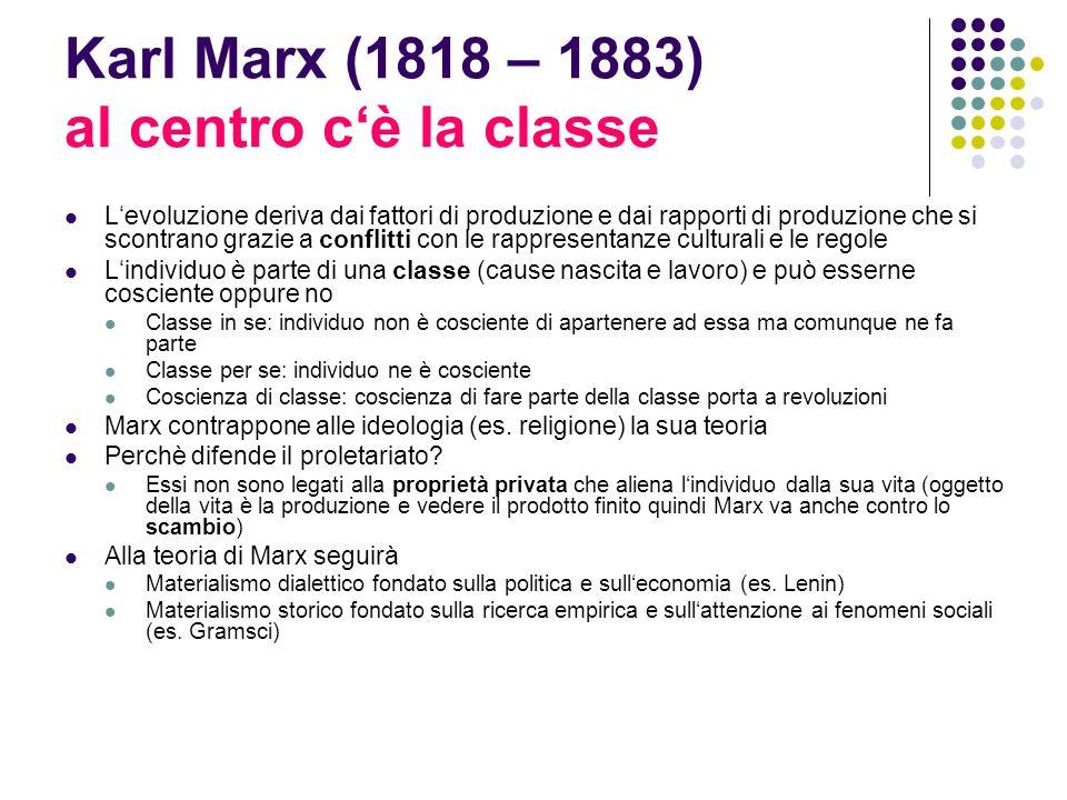 Karl Marx (1818 – 1883) al centro c'è la classe