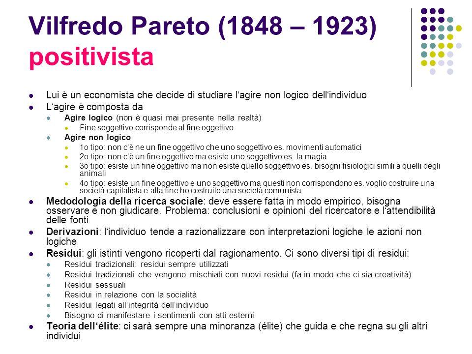 Vilfredo Pareto (1848 – 1923) positivista