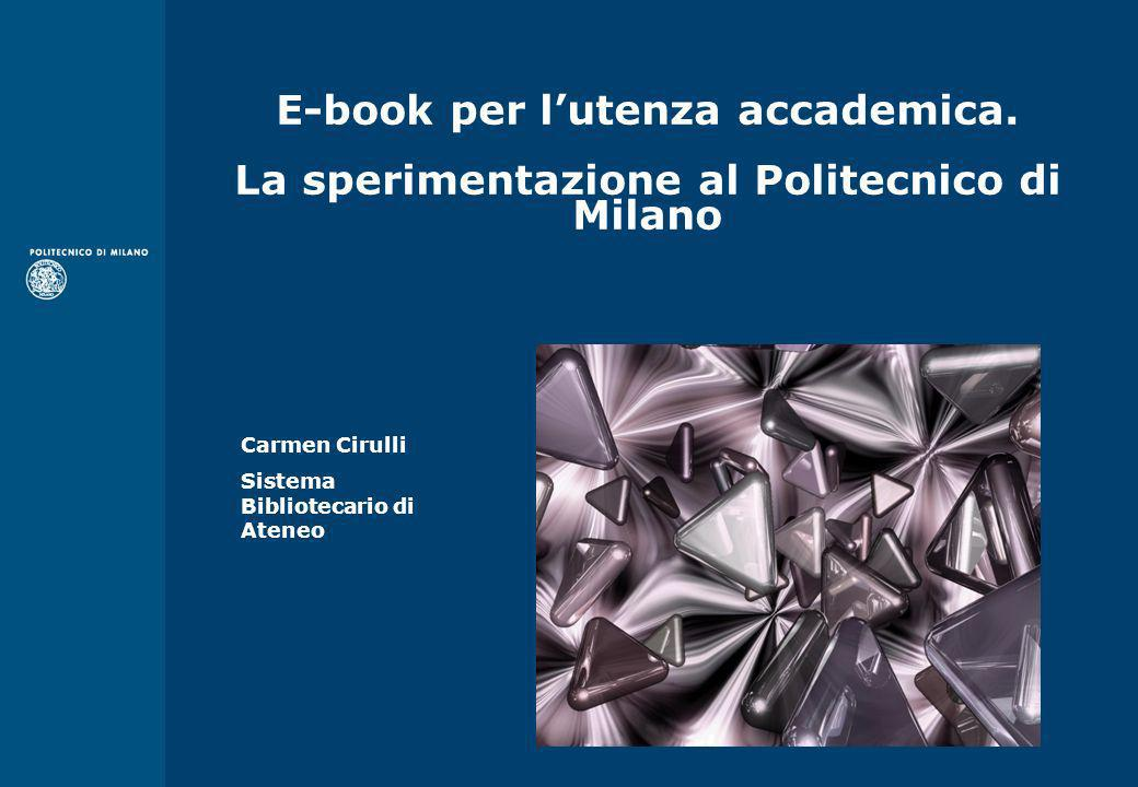 E-book per l'utenza accademica