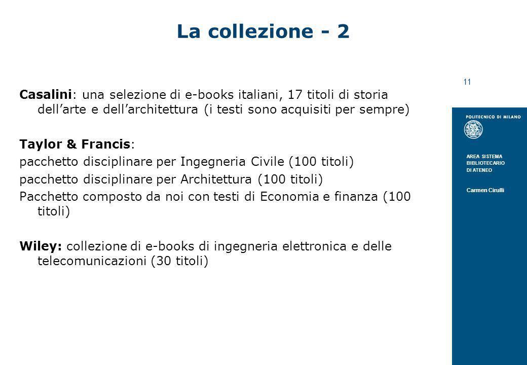La collezione - 2 Casalini: una selezione di e-books italiani, 17 titoli di storia dell'arte e dell'architettura (i testi sono acquisiti per sempre)
