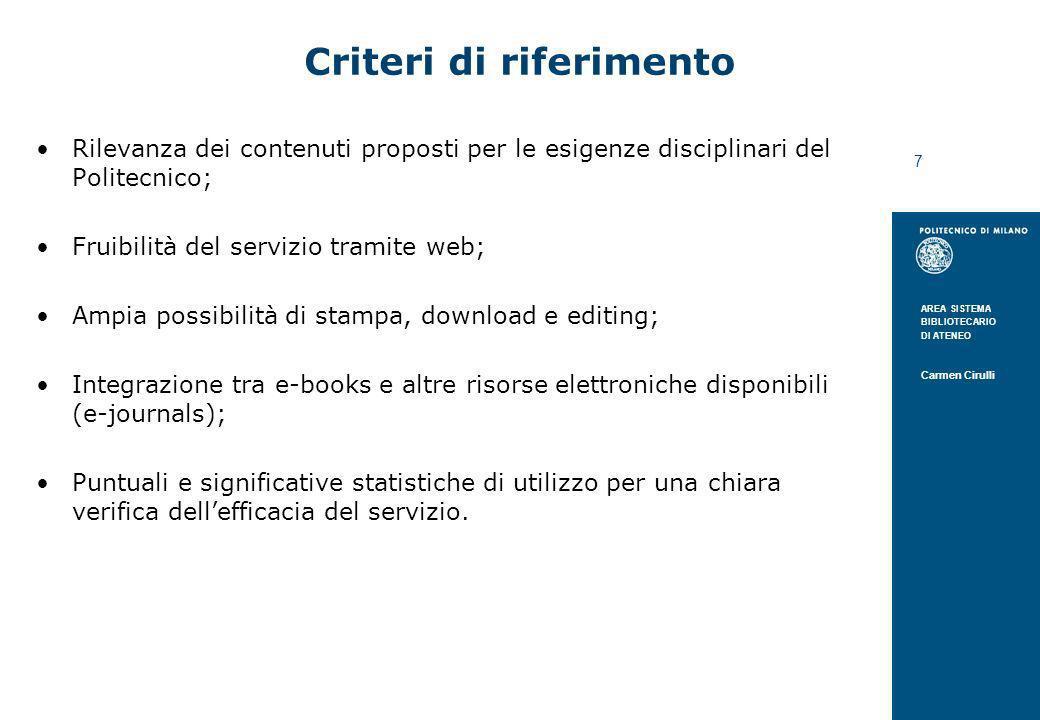 Criteri di riferimento
