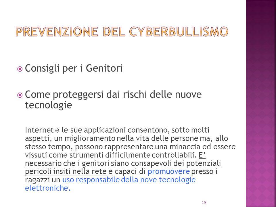 prevenzione del Cyberbullismo