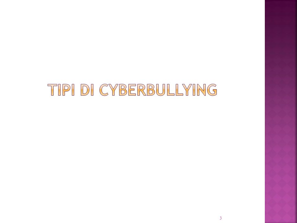 tipi di cyberbullying