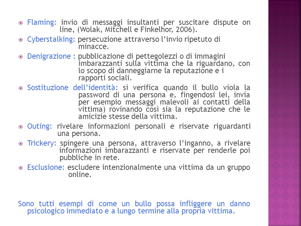 Flaming: invio di messaggi insultanti per suscitare dispute on