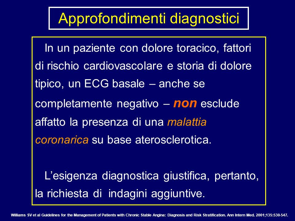 Approfondimenti diagnostici