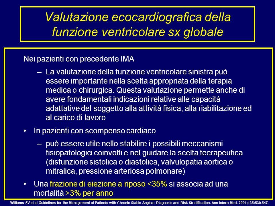 Valutazione ecocardiografica della funzione ventricolare sx globale