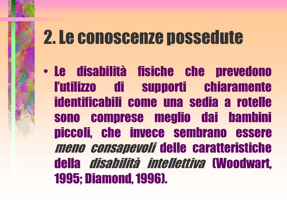 2. Le conoscenze possedute