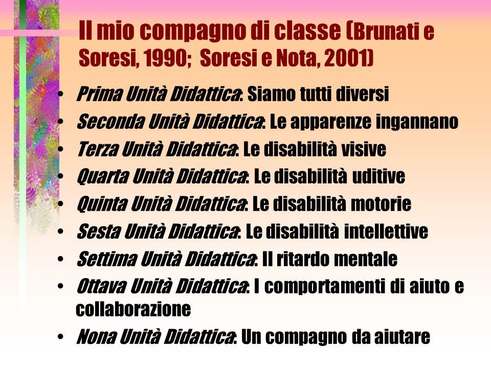 Il mio compagno di classe (Brunati e Soresi, 1990; Soresi e Nota, 2001)