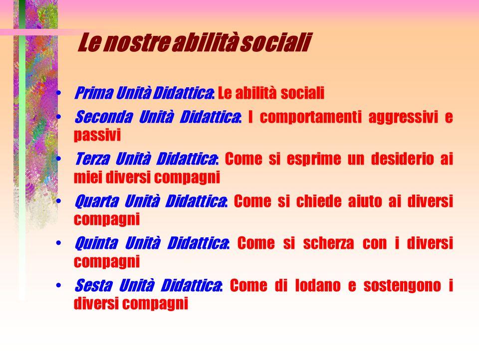 Le nostre abilità sociali