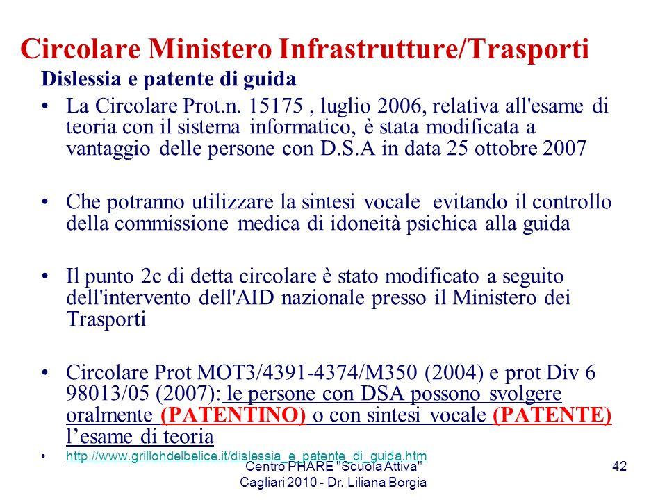 Circolare Ministero Infrastrutture/Trasporti