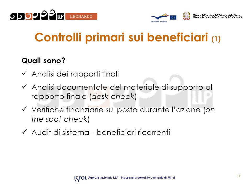 Controlli primari sui beneficiari (1)