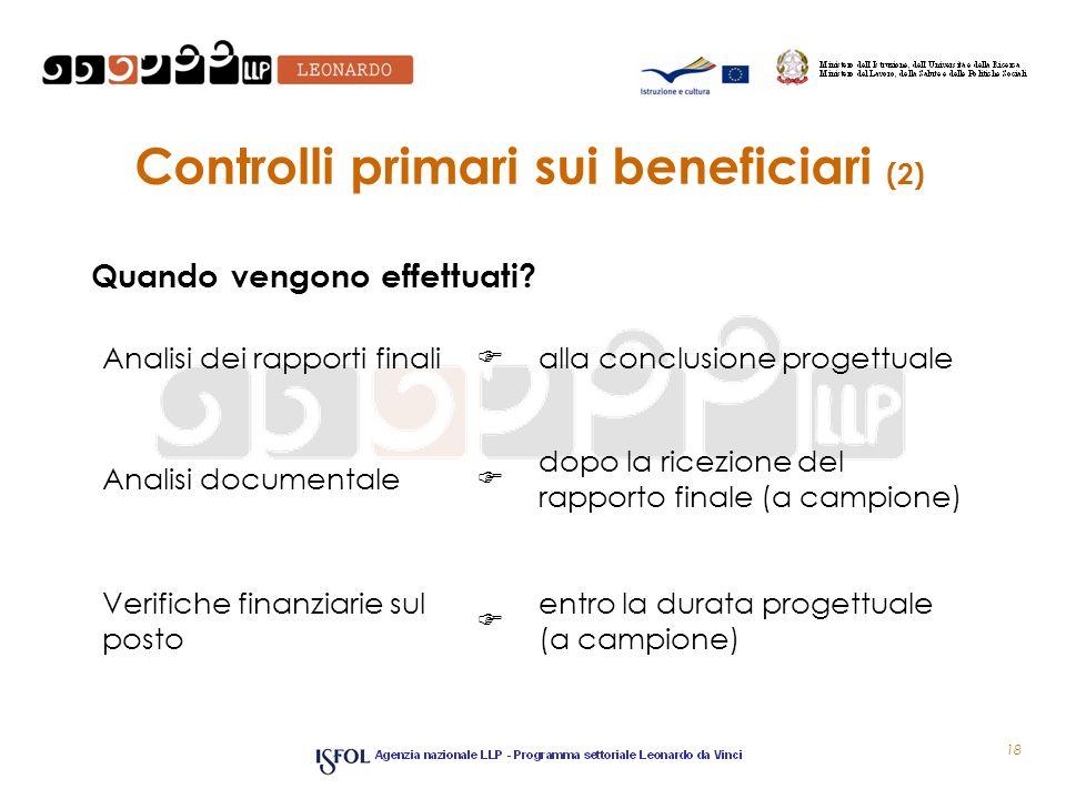 Controlli primari sui beneficiari (2)