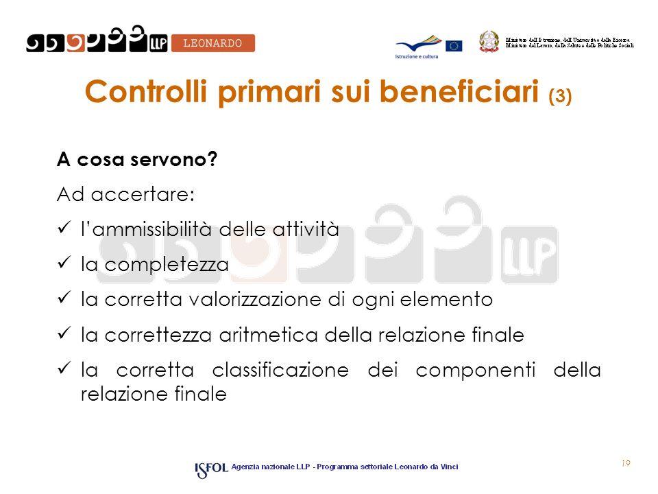 Controlli primari sui beneficiari (3)