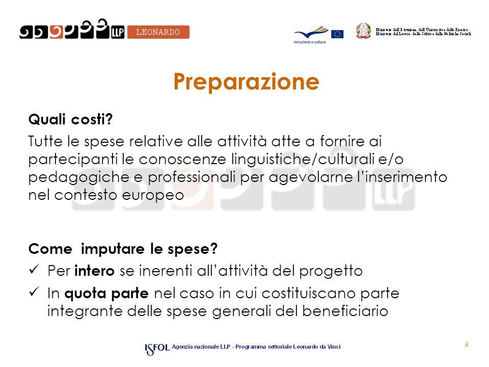Preparazione Quali costi