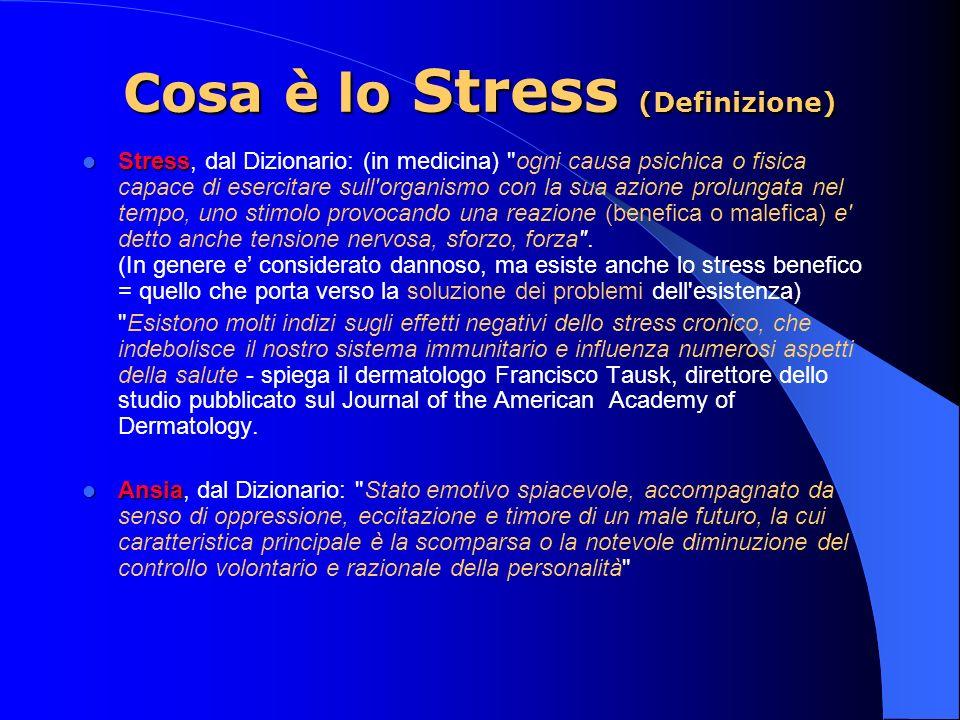 Cosa è lo Stress (Definizione)