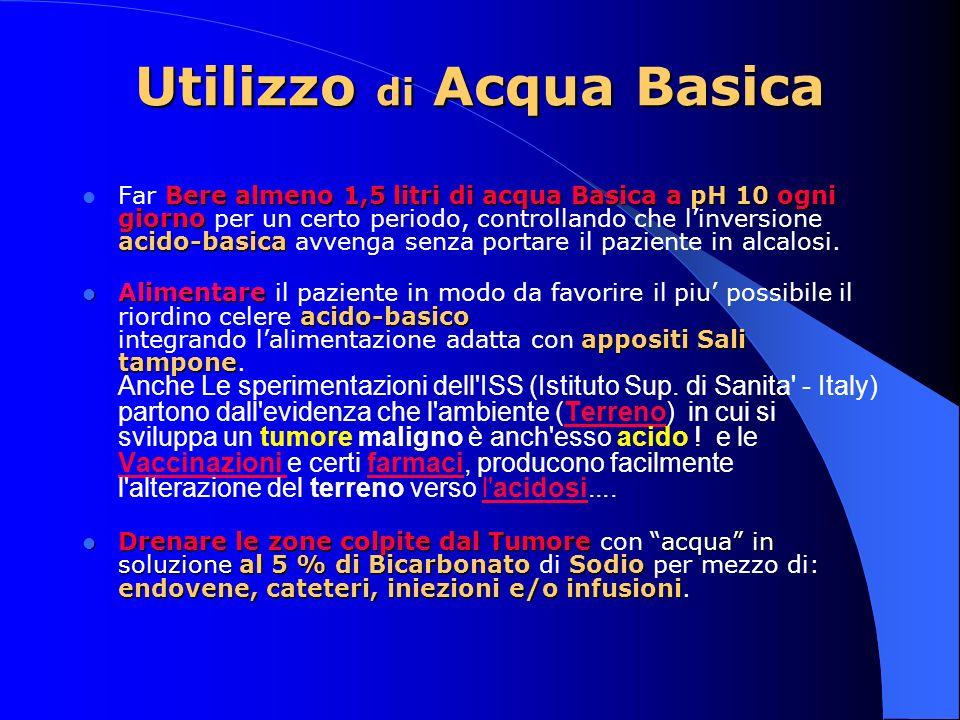 Utilizzo di Acqua Basica