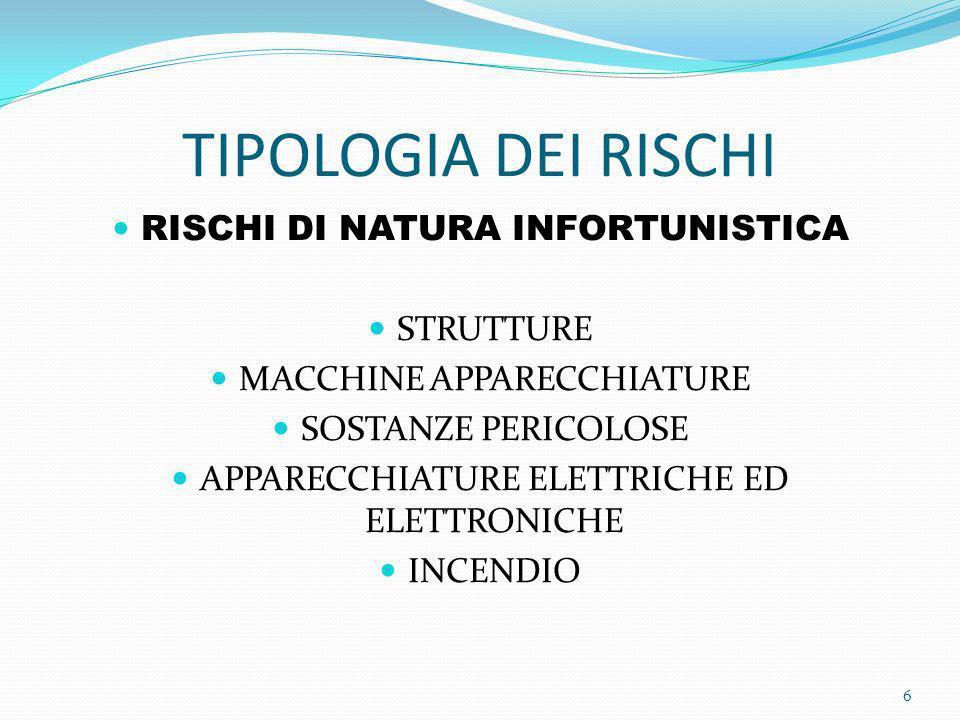 RISCHI DI NATURA INFORTUNISTICA