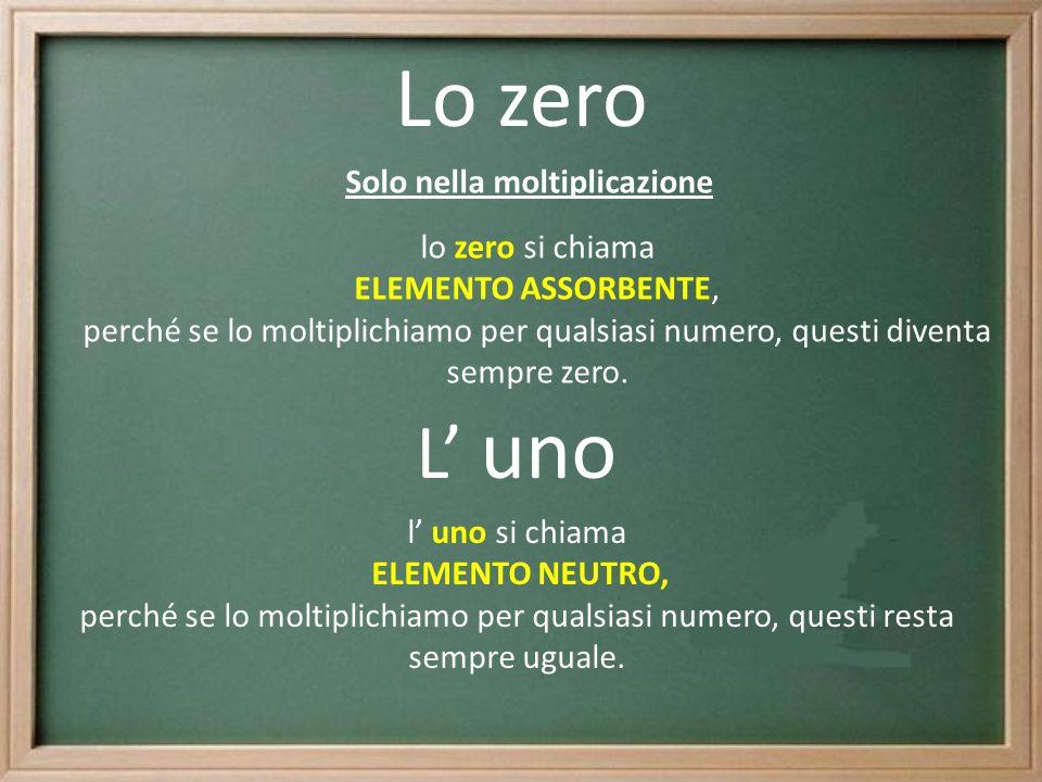 Solo nella moltiplicazione