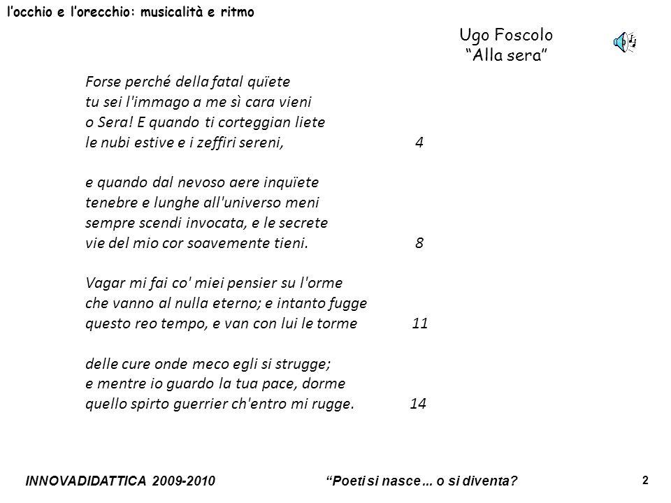 Ugo Foscolo Alla sera