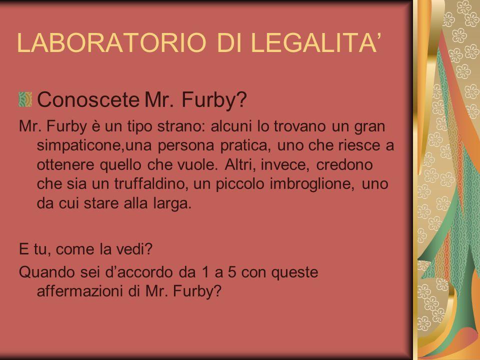 LABORATORIO DI LEGALITA'