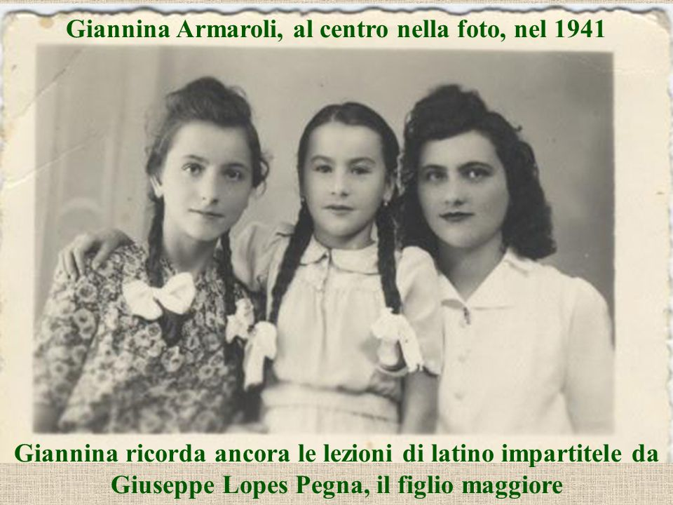 Giannina Armaroli, al centro nella foto, nel 1941