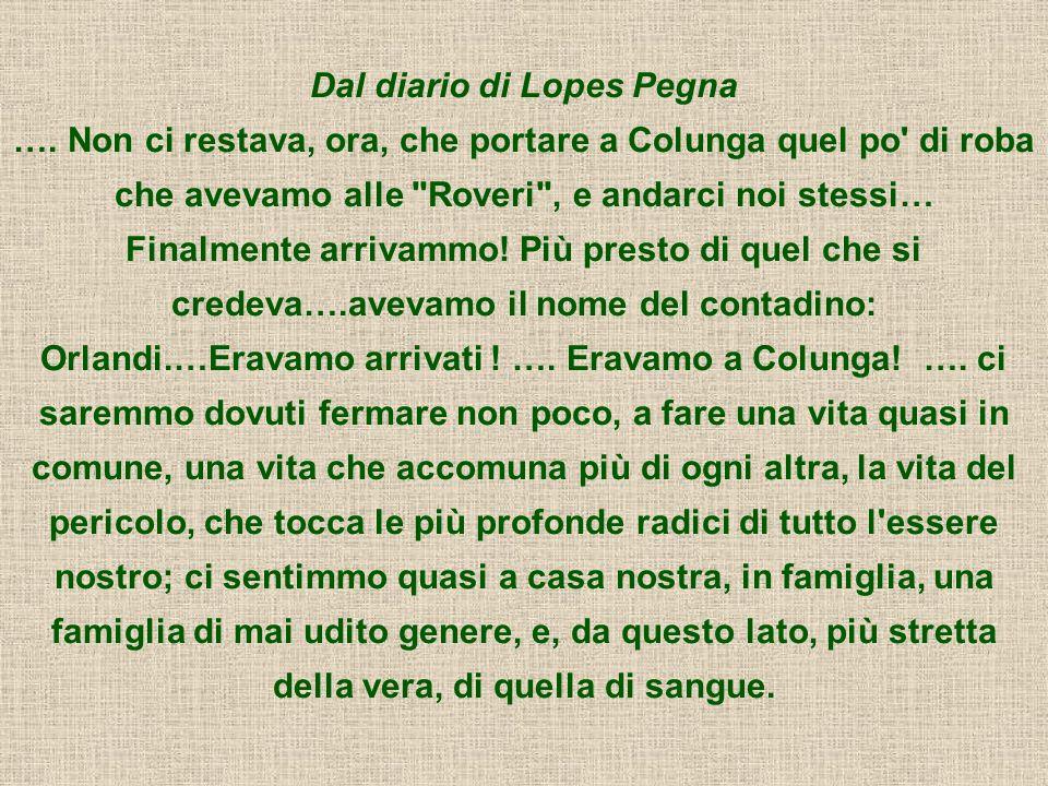 Dal diario di Lopes Pegna