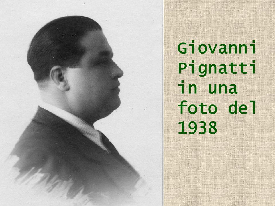 Giovanni Pignatti in una foto del 1938