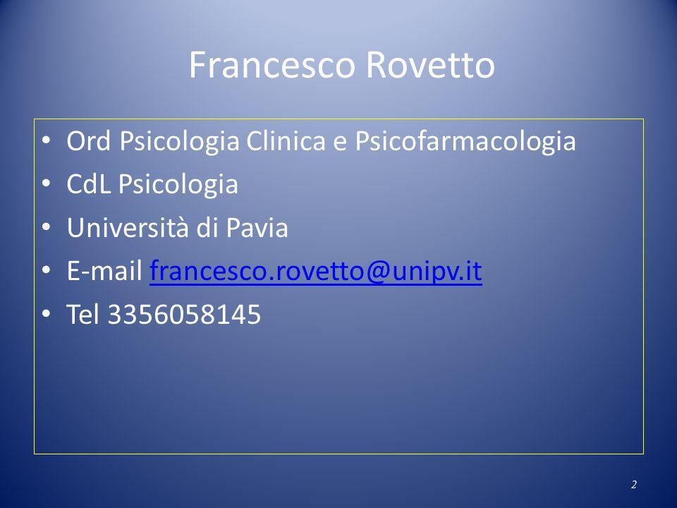 Francesco Rovetto Ord Psicologia Clinica e Psicofarmacologia