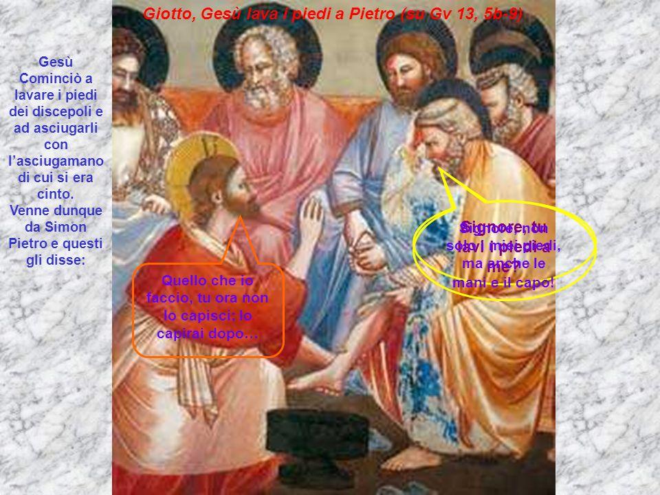 Giotto, Gesù lava i piedi a Pietro (su Gv 13, 5b-9)