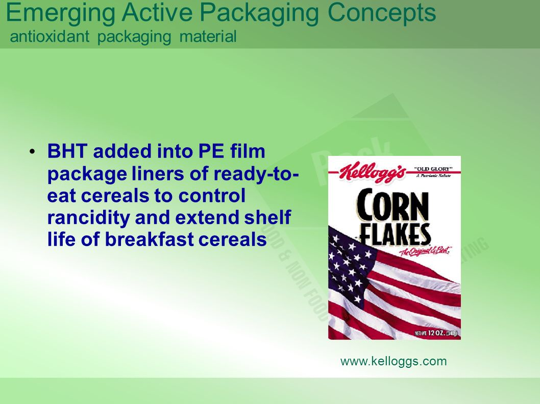 Emerging Active Packaging Concepts antioxidant packaging material