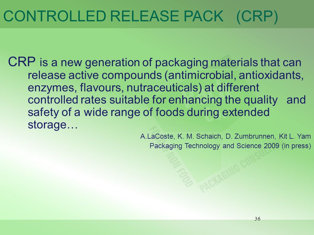 CONTROLLED RELEASE PACK (CRP)