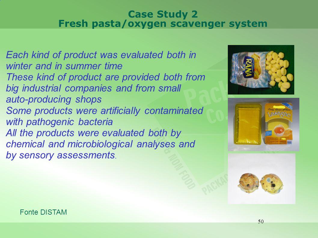 Fresh pasta/oxygen scavenger system